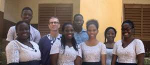 High School Students with Robotics Prof Michael