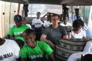 The Bus to Dakar wasn't too comfortable!