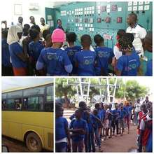 Some of the students on a field trip