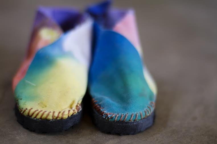 Making shoes for barefoot children in Mozambique