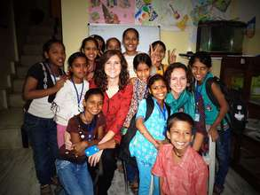 Maitri's students with international interns