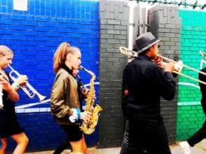 Second Line Band in Action!