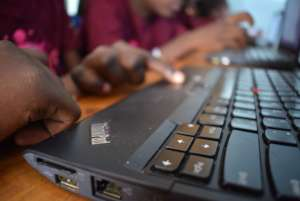 Computers in use.