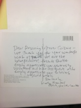 Thank you letter