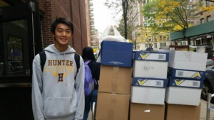 Boxes of Food Rescued by our volunteer Aaron!