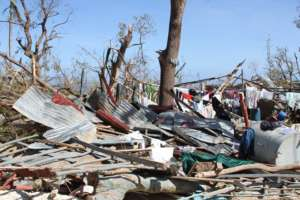 Homes and communities destroyed
