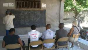 English tutoring session underway at Safehouse