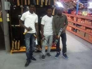 New construction graduates shop for tools!