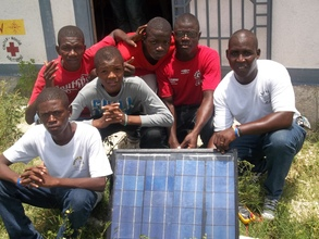 Final product at Solar Panel Building training
