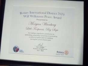 Rotary International Peace Award