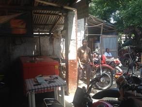 Apprenticing at a motorcycle repair shop