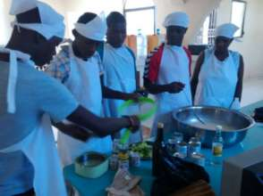 Cooking class at Boy's Transitional Safehouse