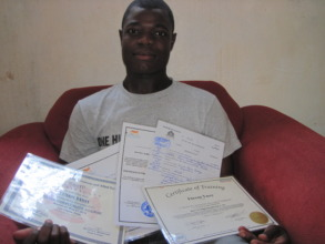 Hard work, certificates, and pride of achievement!