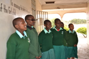 Mary with her schoolmates