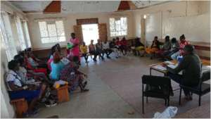 Girls participating in a Life Skills Seminar