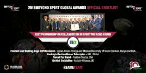VAP Shortling on 2018 Beyond Sport Award