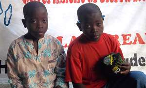 Twins BoysOrphaned by the Ebola virus