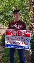 Vietnam Veteran received his sign