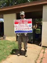 Active Duty Military got his Sign