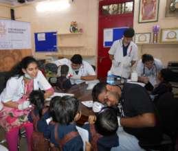 Umang beneficiaries health check-up camp.
