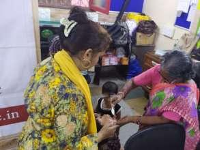 Immunization camp for Umang beneficiaries