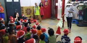 Umang beneficiaries celebrating Christmas.