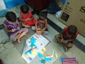 Puppet Fish Activity for Umang beneficiaries
