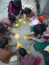 Umang beneficiaries in art and craft session.