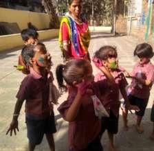 Holi celebration with Umang beneficiaries.