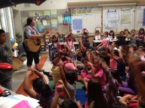 Michele Harris Padron and students in Oxnard, CA