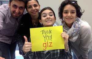 Teach For Armenia Staff thanking GIZ