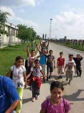 Kadire & 34 other children on their way to school