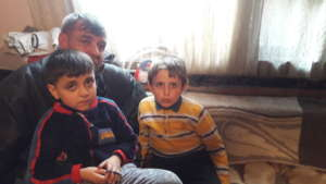 The boys and their father Ahmet