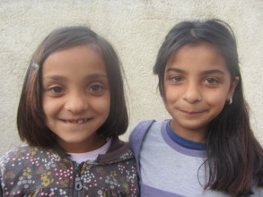 Fetije and her sister Elmedina, both now at school