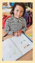 Majlinda in school