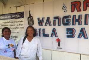 Vilma&Rose, leader of Wangki Tangni, outside radio