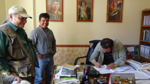 Signing the Contract with authorities