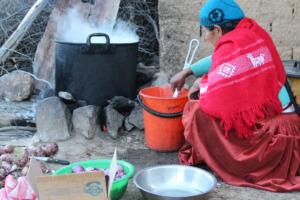 School lunche being  prepared in Tambo Kasa