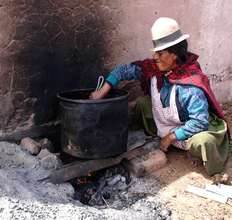 Cooking on a traditional stove