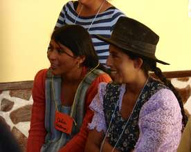 Women participate in an educational workshop