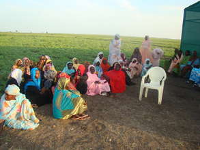Women Farmers Union members gather for a training