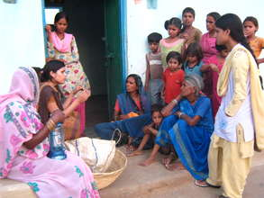 Counselling mothers in a village on Breastfeeding