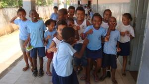 Students from Varginha school.