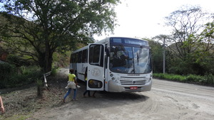 The bus we rent to take the students.