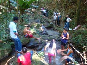 A break near the mountain stream