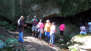 Cave by the trail.