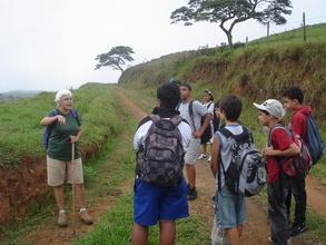 Katya lecturing students.