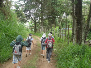 Another group of students on the trail.
