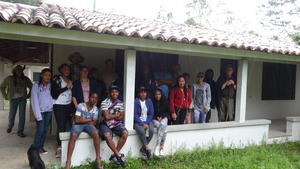 The rainy day was not a problem for students group