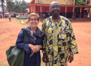 Rea and lawyer Bruno Gbiegba at a Bangui court